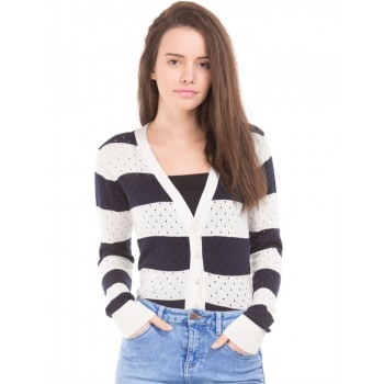 U.S. Polo Assn. Women Casual Wear Striped Cardigan