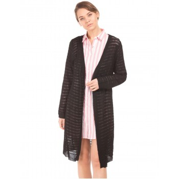 U.S. Polo Assn. Women Casual Wear Striped Shrug