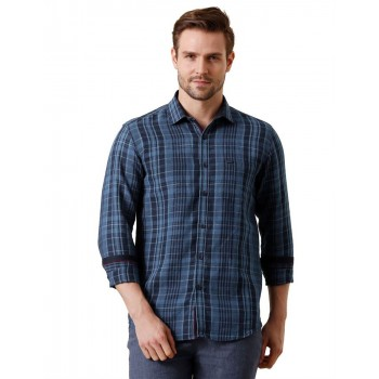 True Blue Men Casual Wear Checkered Shirt