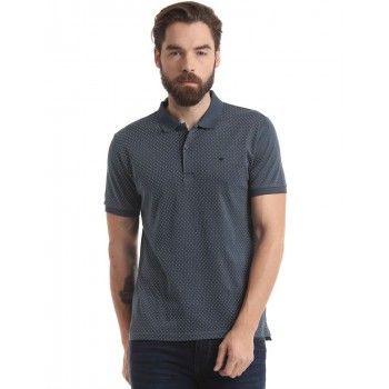 True Blue Men Casual Wear Printed Polo T-Shirt