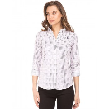 U.S. Polo Assn. Women Casual Wear Printed Shirt