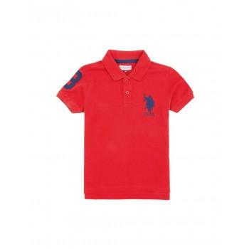 U.S. Polo Assn. Casual Wear Solid Boys T-Shirt