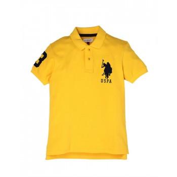 U.S. Polo Assn. Boys Casual Wear Solid Polo T-Shirt