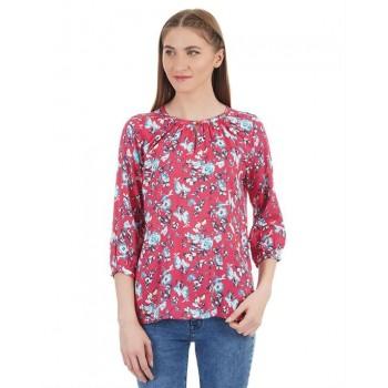 U.S. Polo Assn. Women Casual Wear Floral Print Top