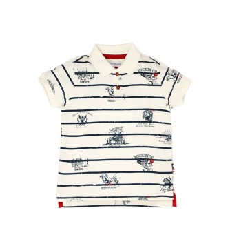 U.S. Polo Assn. Boys Casual Wear Striped Polo T-Shirt