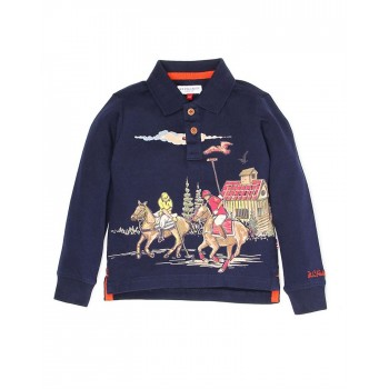 U.S. Polo Assn. Boys Casual Wear Graphic Print Polo T-Shirt