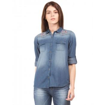 U.S. Polo Assn. Women Casual Wear Solid Shirt