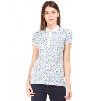 U.S. Polo Assn. Women Casual Wear Floral Print T-Shirt