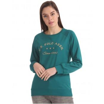 U.S. Polo Assn. Women Casual Wear Solid Sweatshirt