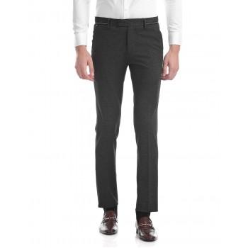 U.S. Polo Assn. Men Textured Formal Wear Trousers