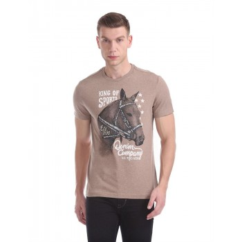 U.S. Polo Assn. Men Graphic Print Casual Wear T-Shirt