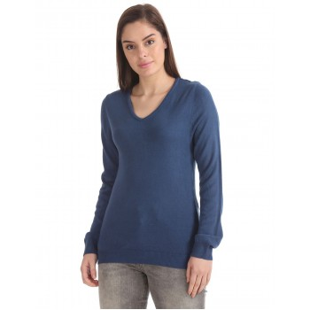 U.S. Polo Assn. Women Casual Wear Solid Sweater