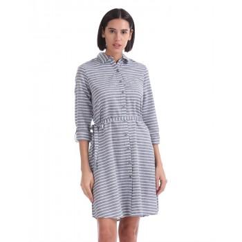 U.S. Polo Assn. Women Casual Wear Striped Dress