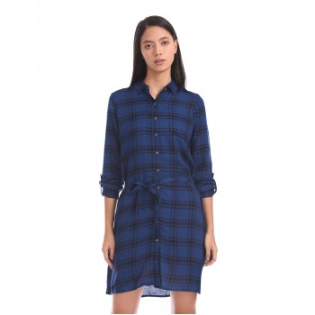 U.S. Polo Assn. Women Casual Wear Checkered Dress