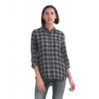 U.S. Polo Assn. Women Casual Wear Checkered Shirt