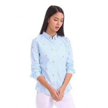 U.S. Polo Assn. Women Casual Wear Striped Shirt