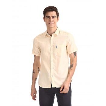 U.S.Polo Assn. Men Solid Casual Wear Shirt