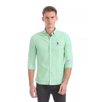 U.S. Polo Assn. Men Casual Wear Solid Shirt