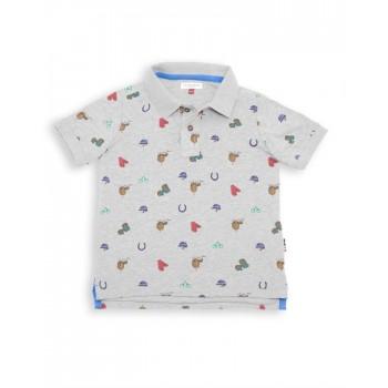 U.S. Polo Assn. Boys Casual Wear Printed Polo T-Shirt