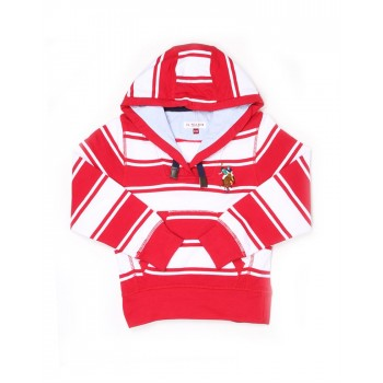 U.S. Polo Assn. Casual Wear Striped Girls Sweat Shirt