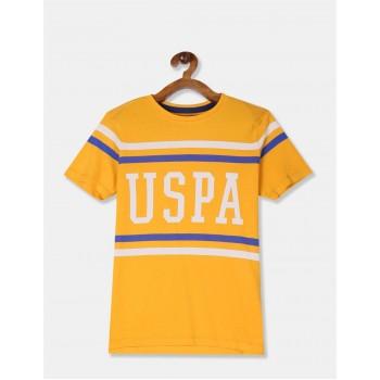 U.S. Polo Assn. Boys Printed Yellow T-Shirt