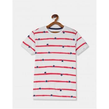 U.S. Polo Assn. Boys Printed White T-Shirt