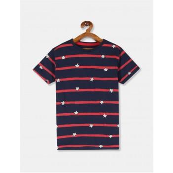 U.S. Polo Assn. Boys Striped Blue T-Shirt