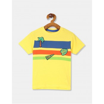 U.S Polo Assn. Boys Striped Yellow T-Shirt
