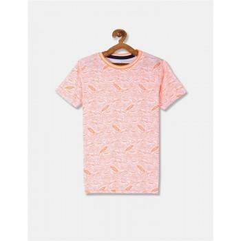 U.S. Polo Assn. Boys Printed Orange T-Shirt