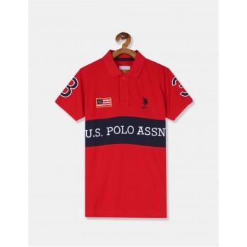 U.S. Polo Assn. Boys Applique Red T-Shirt