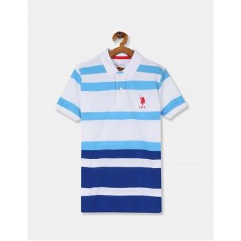 U.S. Polo Assn. Boys Striped White T-Shirt