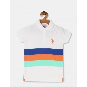 U.S. Polo Assn. Boys Striped Multicolor T-Shirt