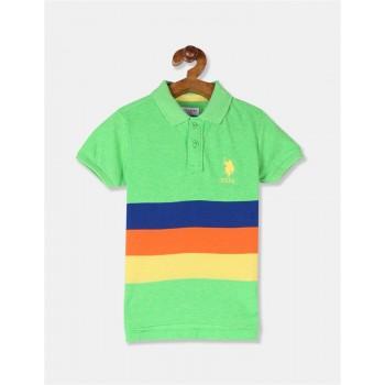 U.S. Polo Assn. Boys Striped Green T-Shirt