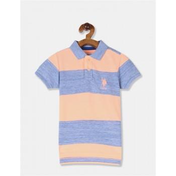 U.S. Polo Assn. Boys Striped Orange T-Shirt