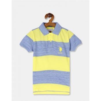 U.S. Polo Assn. Boys Striped Yellow T-Shirt