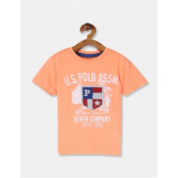 U.S. Polo Assn. Boys Embellished Orange T-Shirt