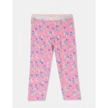 U.S. Polo Assn. Girls Printed Pink Legging