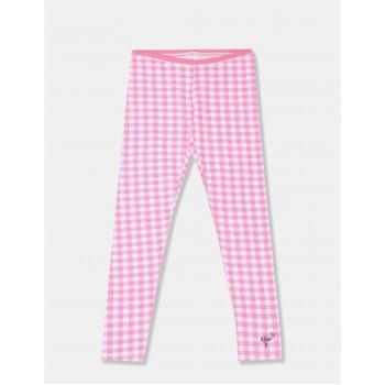 U.S. Polo Assn. Girls Checkered Pink Legging