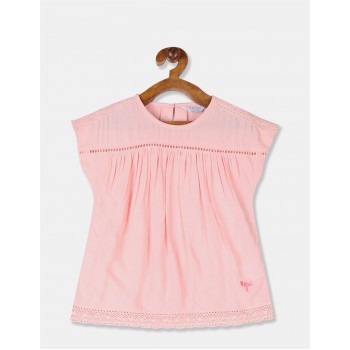 U.S. Polo Assn. Girls Solid Pink Top