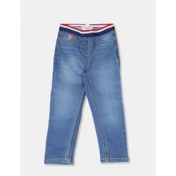 U.S. Polo Assn. Girls Solid Blue Jegging