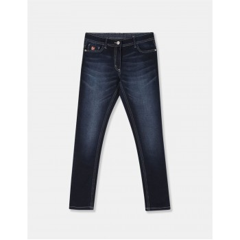 U.S. Polo Assn. Girls Solid Blue Jeans
