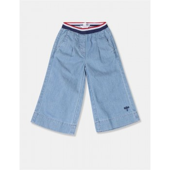 U.S. Polo Assn. Girls Solid Blue Culottes
