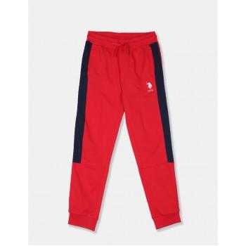 U.S Polo Assn. Boys Color Block Red Joggers