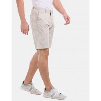 U.S. Polo Assn. Men Casual Wear Beige Shorts