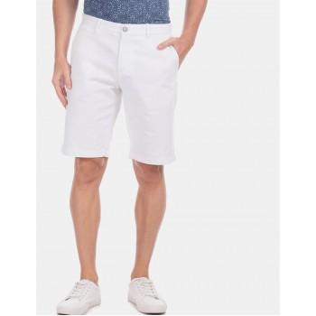 U.S. Polo Assn. Men Casual Wear White Shorts