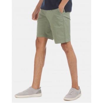 U.S. Polo Assn. Men Casual Wear Green Shorts