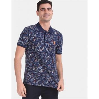 U.S. Polo Assn. Men Casual Wear Blue  Polo Shirt