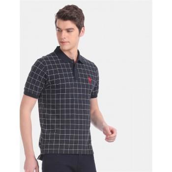 U.S.Polo Assn. Men Casual Wear Navy Blue T-Shirt