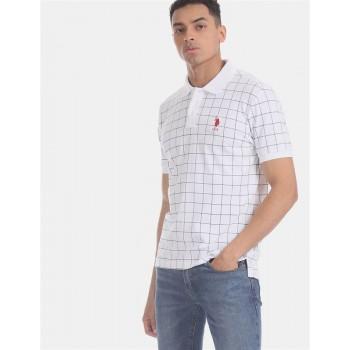 U.S. Polo Assn. Men Casual Wear White  Polo Shirt