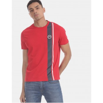 U.S. Polo Assn. Men Casual Wear Red  T-Shirt